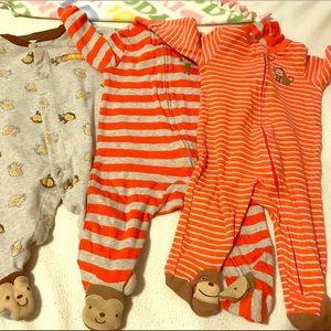 Other - 🌸2$10🌸 3 baby boy Sleepers.